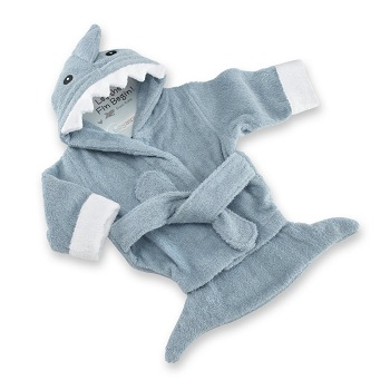 Baby Aspen Let The Fin Begin Terry Shark Robe