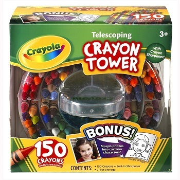 Crayola Crayon Tower Storage Case and Sharpener