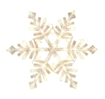 Snowflake Lighted Window Decorations Christmas