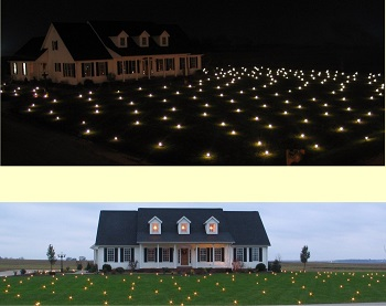 Decorate Yard Stakes Christmas Lights - Lawn Lights Illuminated Outdoor Decoration