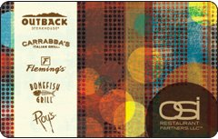 Outback Steak House Gift Card Collection
